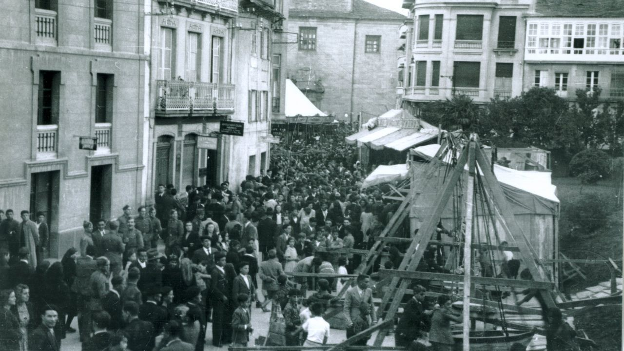 Los sepultureros del Cementerio Municipal de San Froilan cuentan su experiencia durante la pandemia de la Covid19.Instantánea del San Froilán en Lugo en los años 40