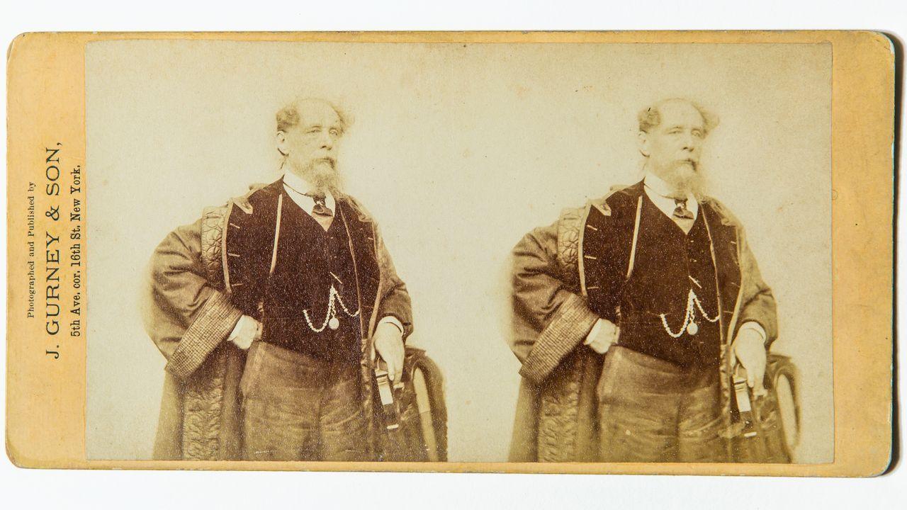 El antes y el después de los Cantones.Imagen estereoscópica de Charles Dickens