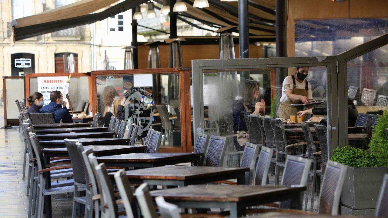 Mesas listas en Lugo