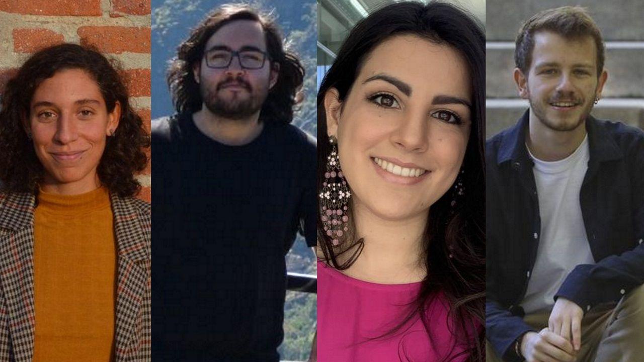 Clara Reigosa, Mauro Rivas, Eva Golmayo y Nacho Roura, cuatro de los becarios de la Fundación Barrié en este 2020