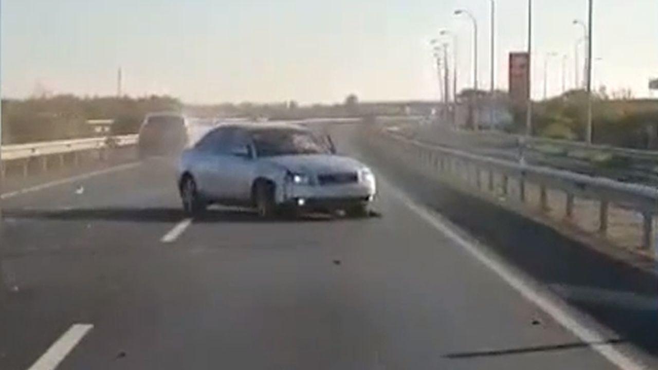 Espectacular persecución policial a un conductor en Huelva