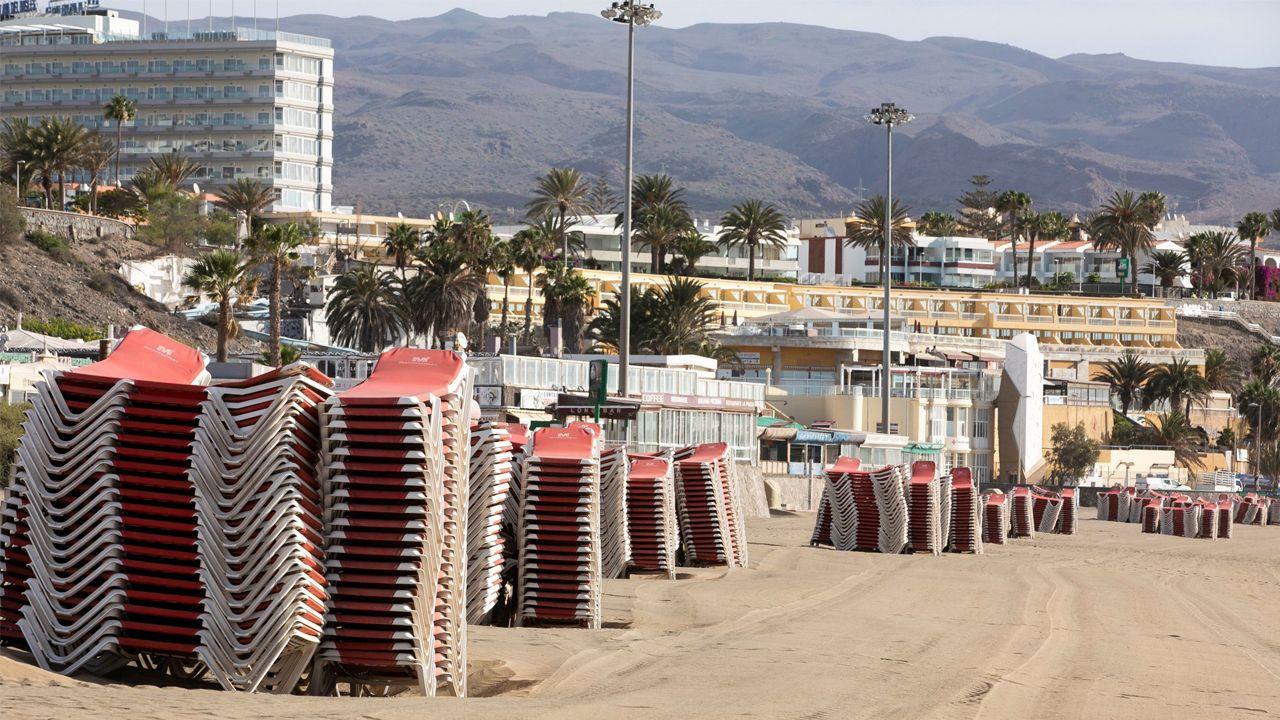 Playa del Inglés, en Gran Canaria