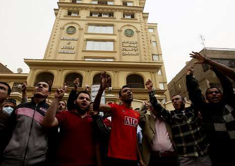 Partidarios de los Hermanos Musulmanes, protestando en El Cairo.