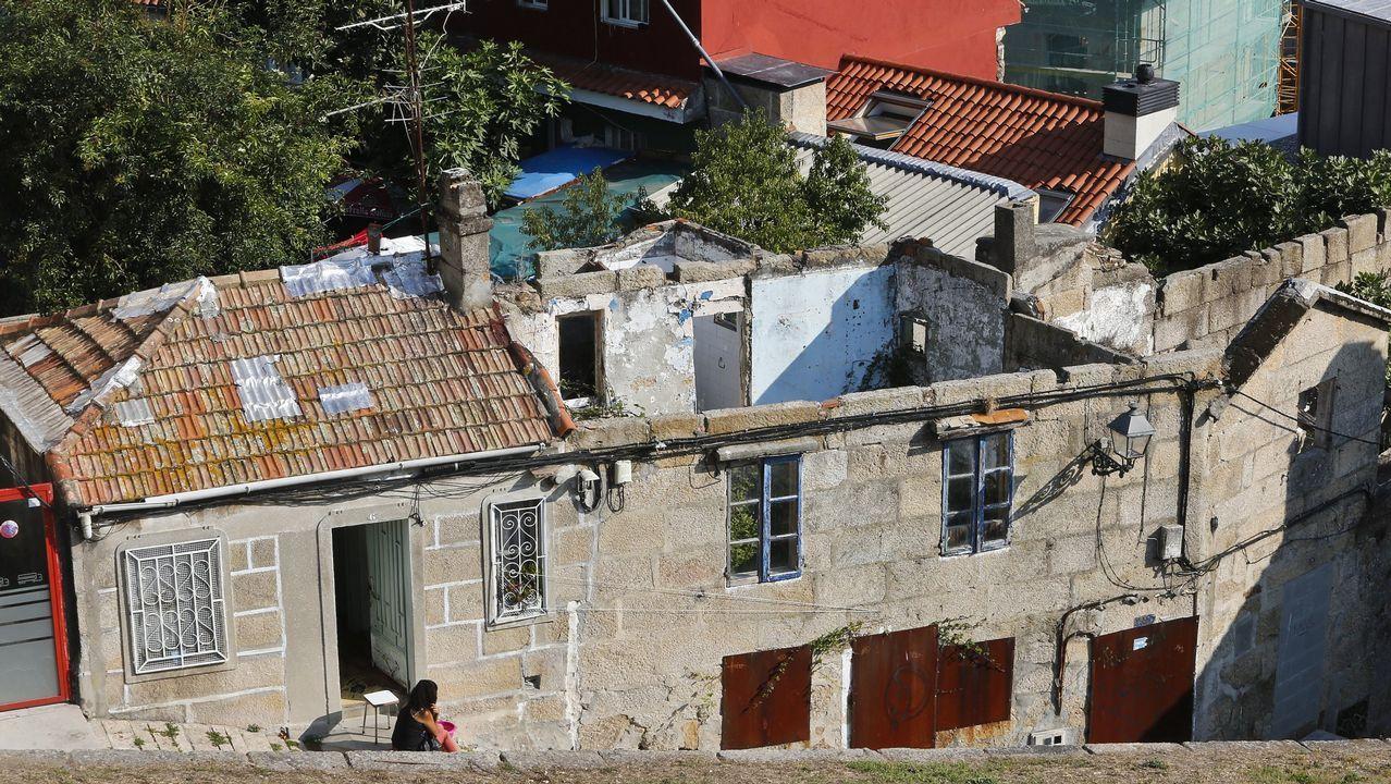 Una vivienda en ruinas en Vigo