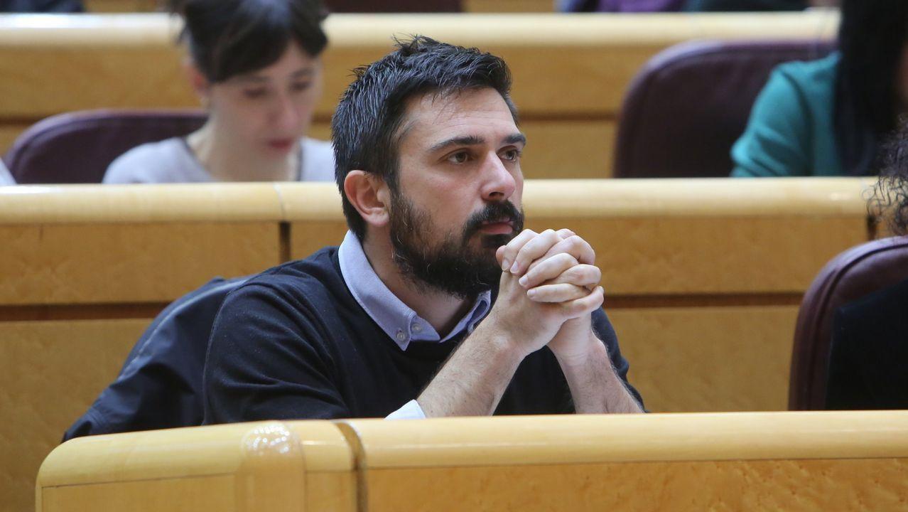 La lista de caídos en Podemos.Imagen de archivo de un pleno en el ayuntamiento de Ourense