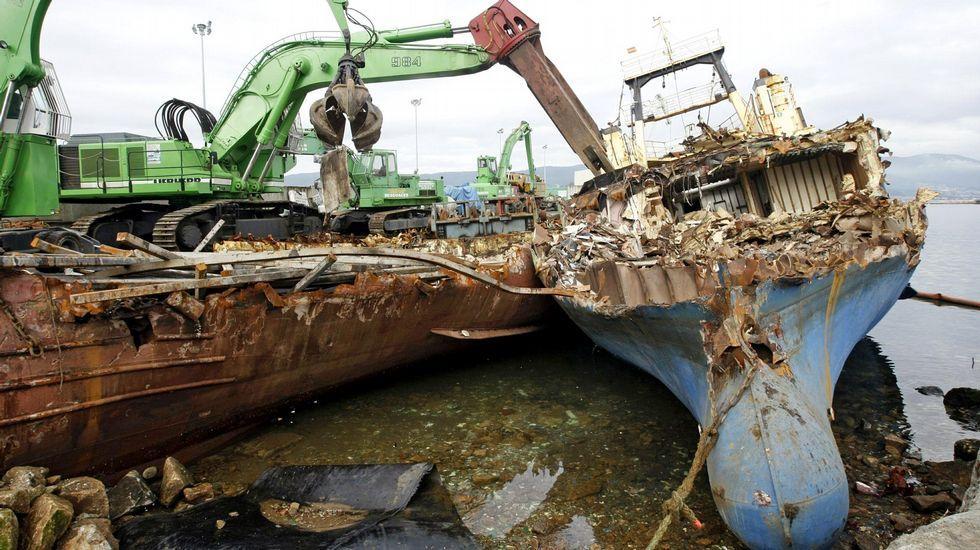 Una decena de barcos cefalopoderos que faenaban en Mauritania han sido ya desguazados.