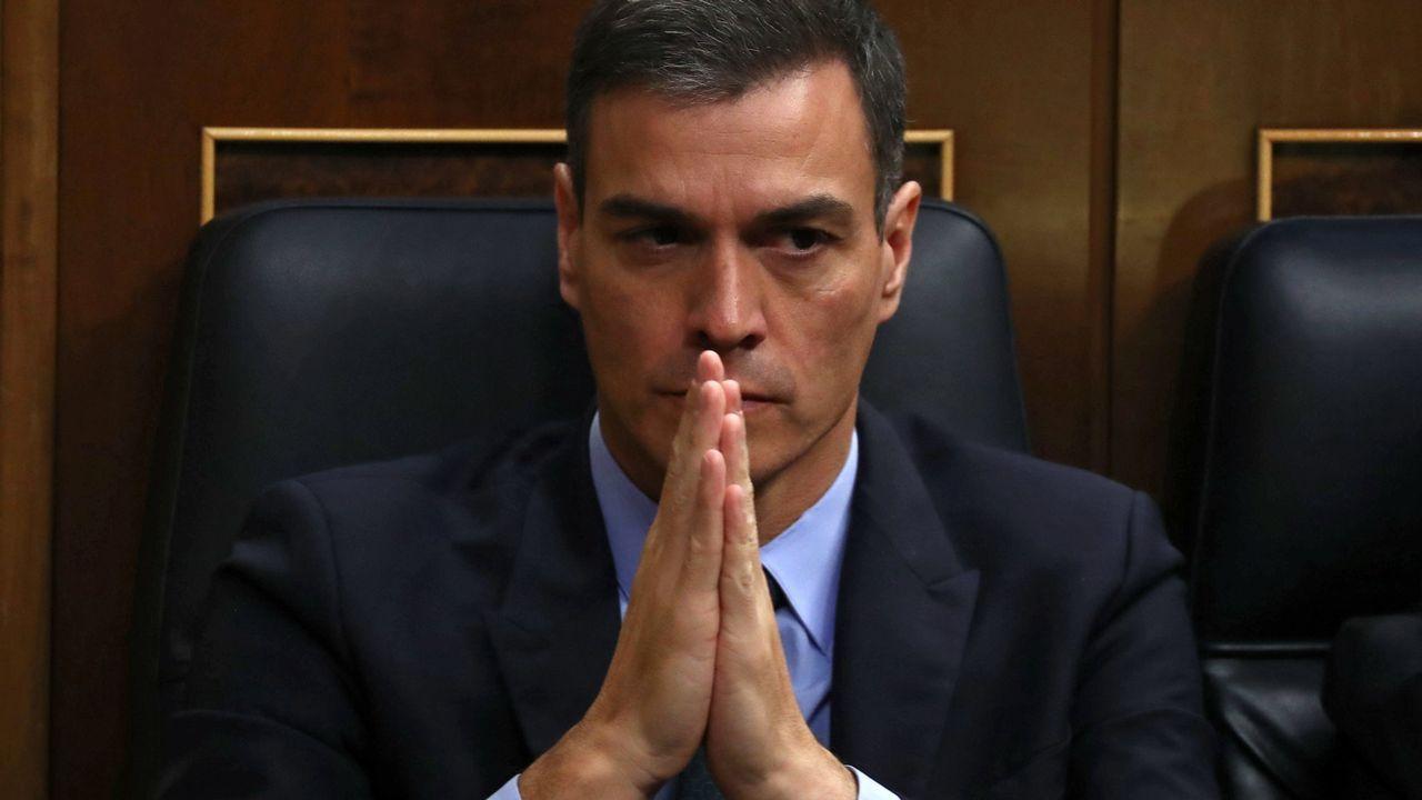 Sánchez arranca desde la Moncloa la campaña para las elecciones del 28 de abril.El presidente del Gobierno, Pedro Sanchez, hoy en el Congreso de los Diputados