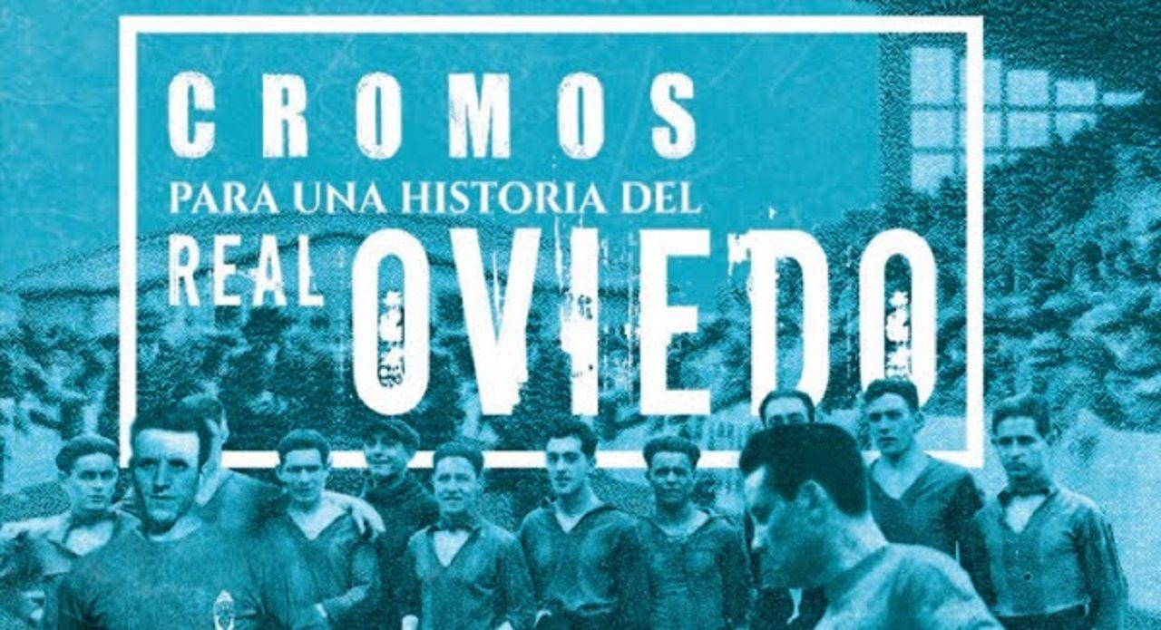 Gol Ortuño Sangalli Edu Cortina Nieto Lolo Real Oviedo Lugo Carlos Tartiere.Portada de 'Cromos para una historia del Real Oviedo'