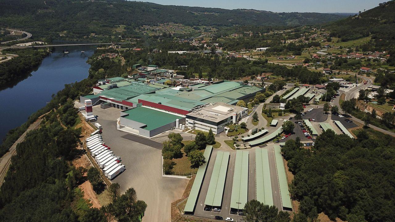 tren.Imagen aérea de la sede central de Coren, en Santa Cruz de Arrabaldo