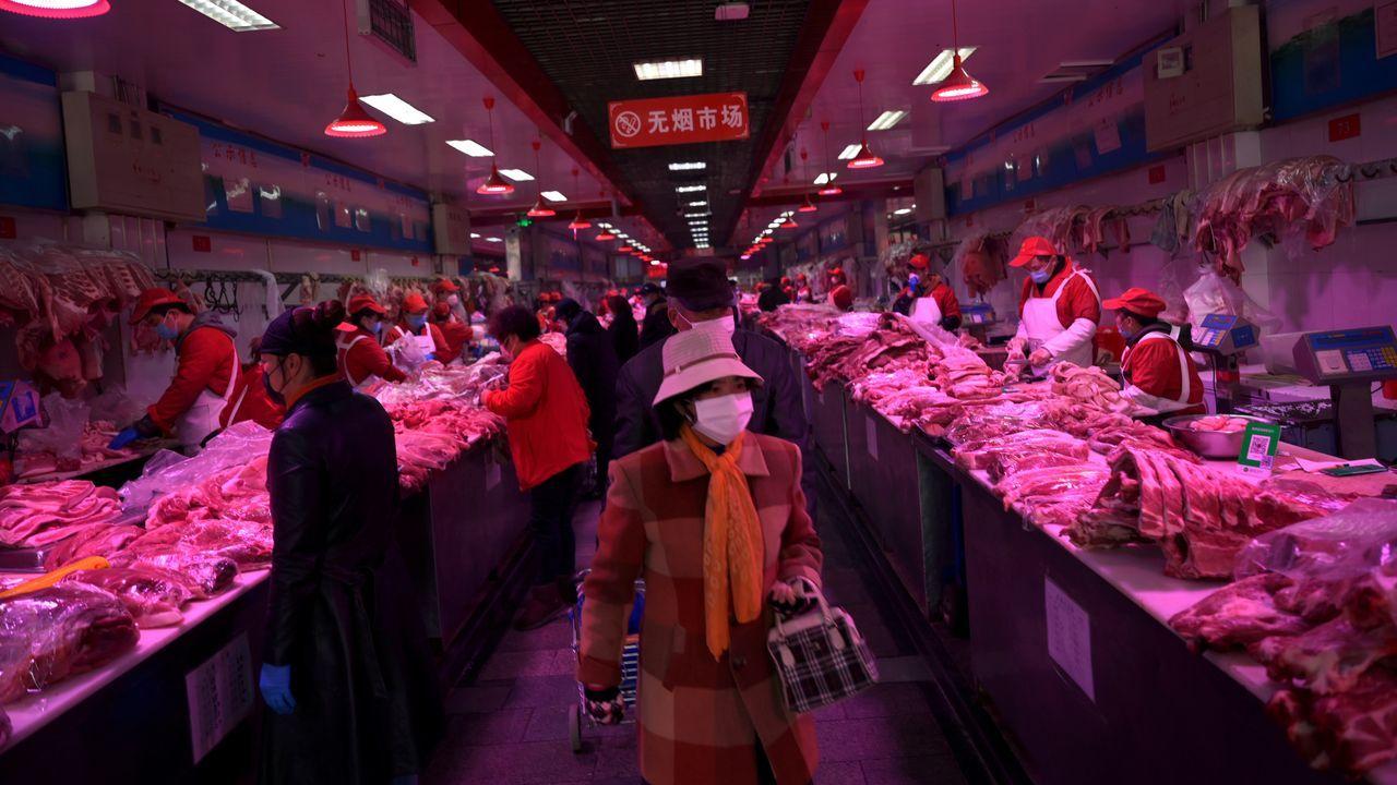 El mercado de Xinfadi, en Pekín