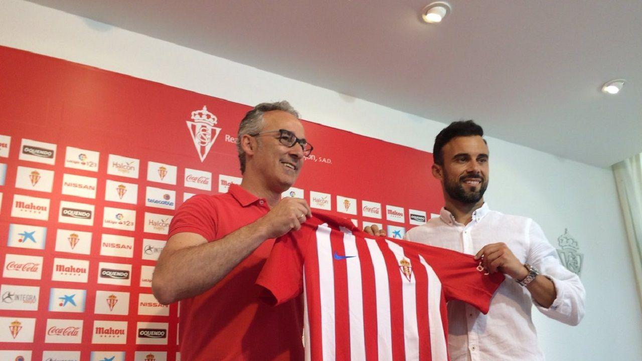 Molinero posa con Miguel Torrecilla