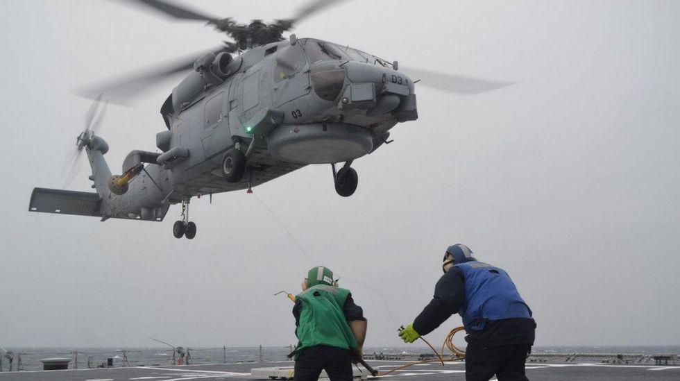 El helicóptero «Toro» operando a bordo de la F-103