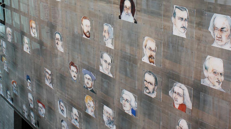 John Harrison, el relojero que protagoniza el doodle de Google.Muro de los inventores, en la sede coruñesa del Museo Nacional de Ciencia y Tecnología (Muncyt), donde se rinde homenaje a un centenar de españoles distinguidos por su trabajo en la innovación