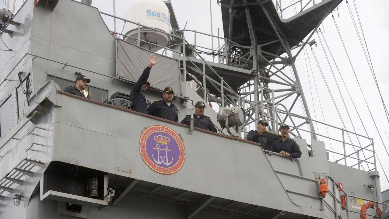 Las imágenes del 26M en Ferrol, Eume y Ortegal.El patrullero regresó en diciembre al Arsenal tras un despliegue en el Golfo de Guinea de cuatro meses