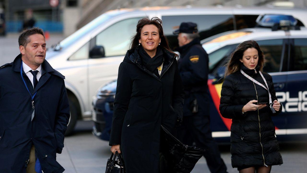 La portavoz de Junts Per Catalunya en el Congreso, Laura Borrás, a su llegada hoy al Congreso de los Diputados