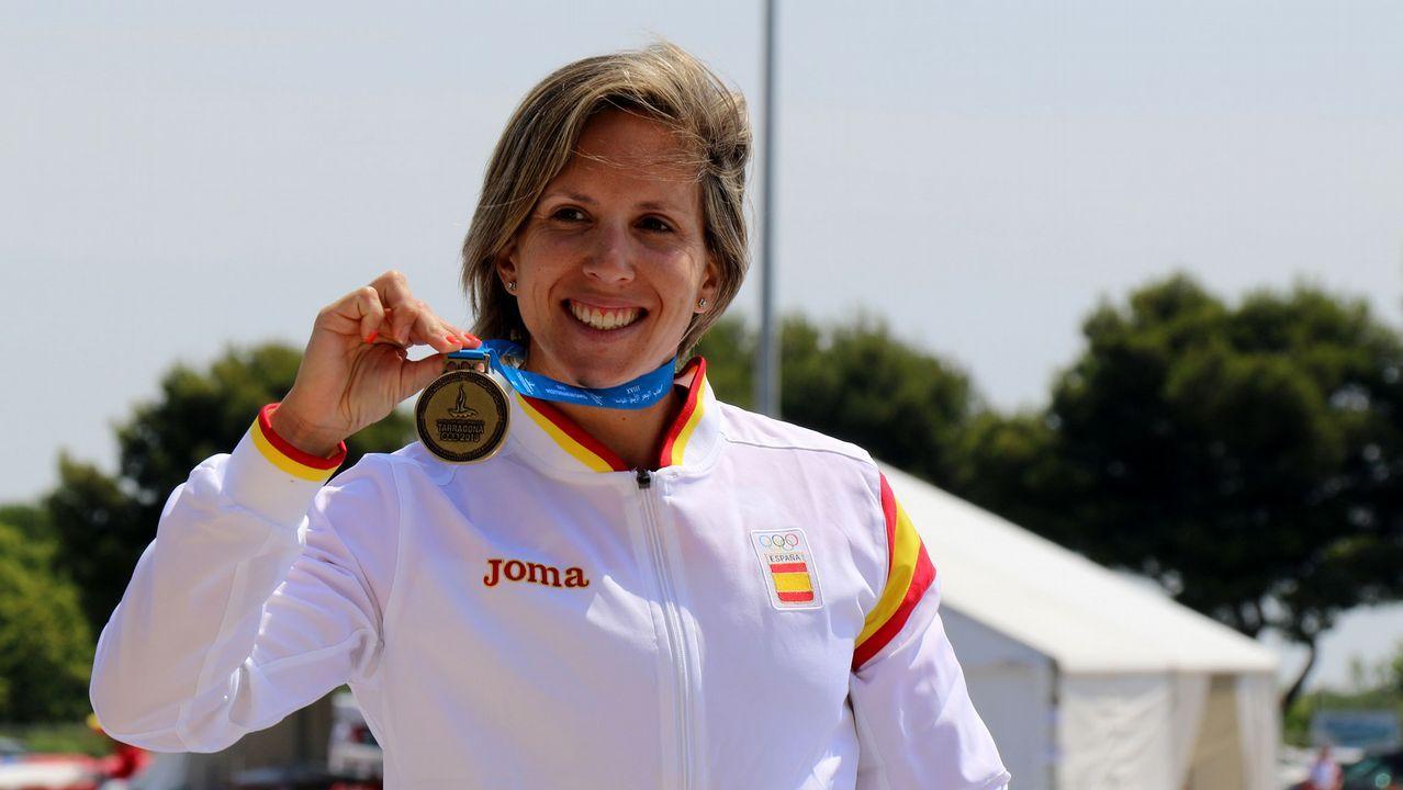 Deportistas gallegos con aspiraciones de ir a los Juegos Olímpicos de Tokio 2020.Javier Tebas, en la presentación de la nueva plataforma
