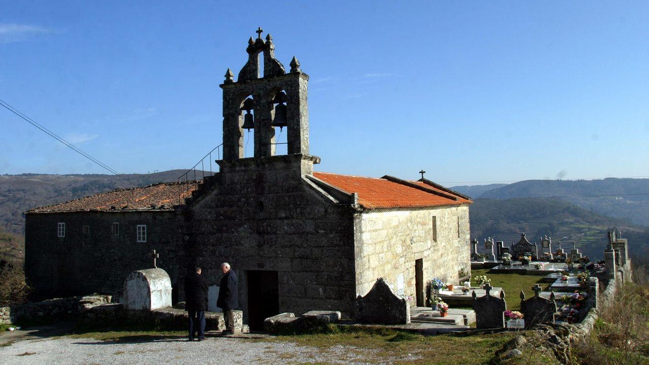 La iglesia de la parroquia de Temes, en el municipio de Carballedo, conserva importantes muestras de arte paleocristiano