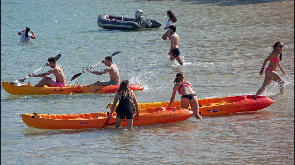 FESTA DA DONA, trinautlon, que ven sendo paddle surf, kayak e vela.Incendio forestal en Taramundi