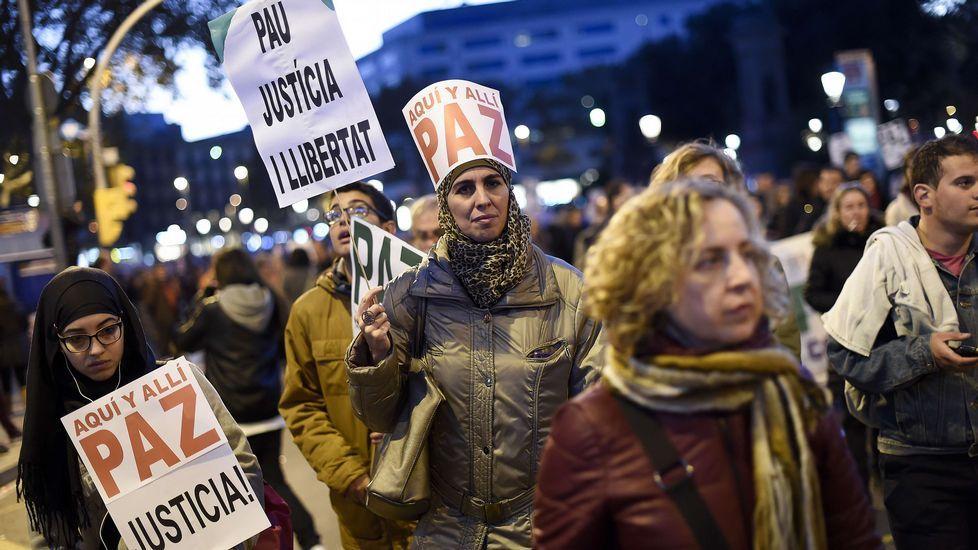 Protesta contra la respuesta violenta al terrorismo