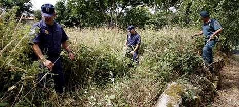 El presidente del Principado, Javier Fernández, atiende a los medios de comunicación.Guardias civiles del Seprona en la búsqueda de un octogenario desaparecido