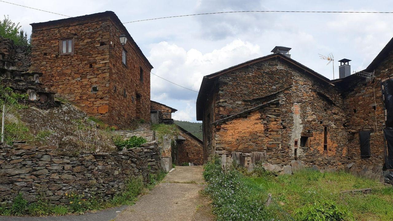 El pueblo de Argul, en Pesoz