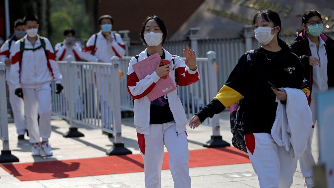 China ha reabierto los institutos para los alumnos de último curso de secundaria y bachillerato