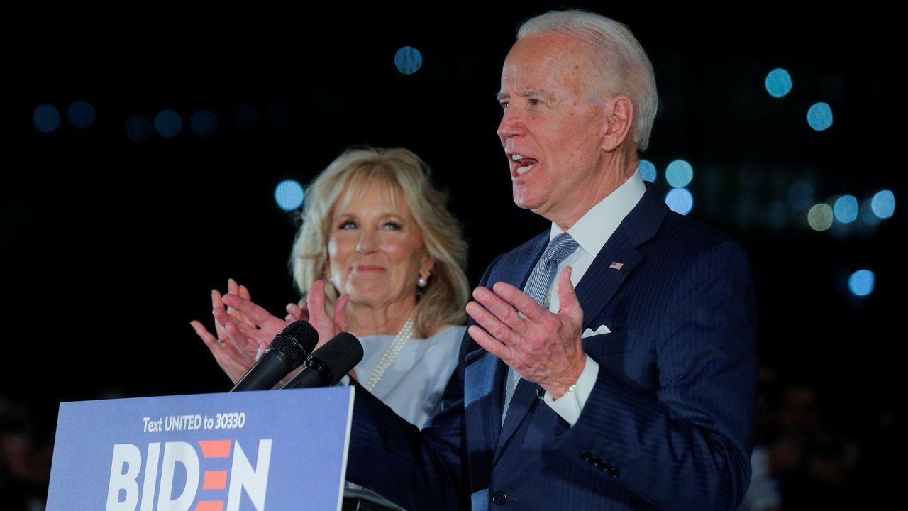 Biden y su mujer Jill, el pasado 10 de marzo