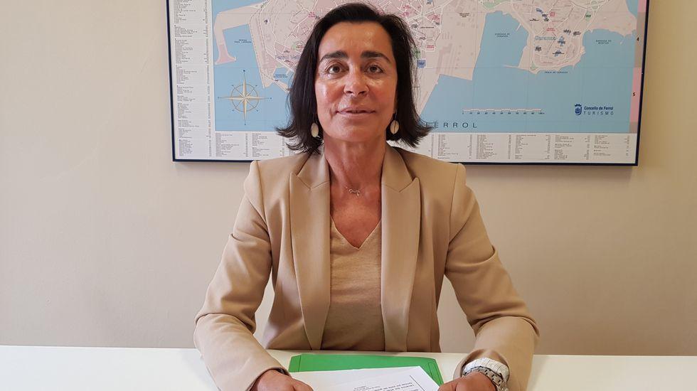 Elvira Miramontes, concejala del grupo municipal del PP en Ferrol
