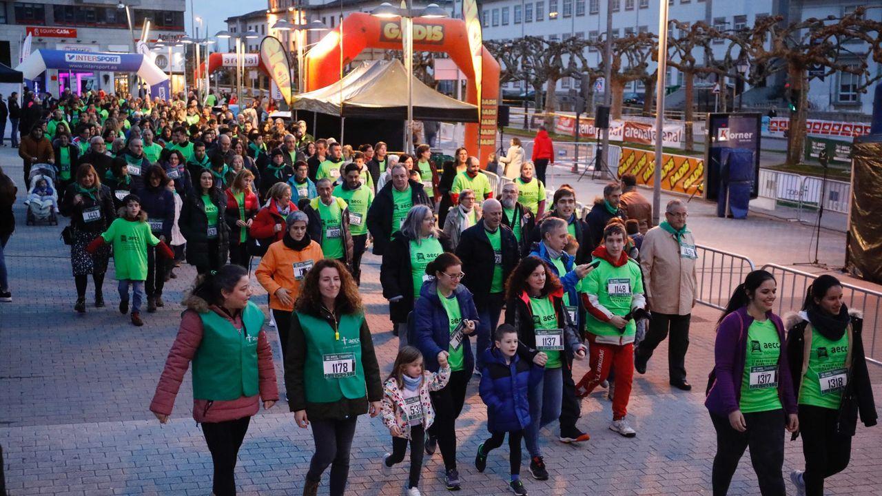 Marcha contra el cáncer en Lugo