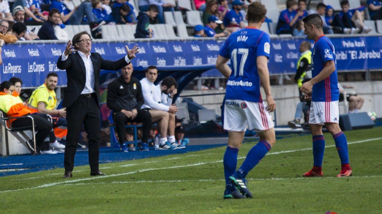 Anquela Requexon Real Oviedo.Anquela da instrucciones en el Oviedo-Sevilla Atlético