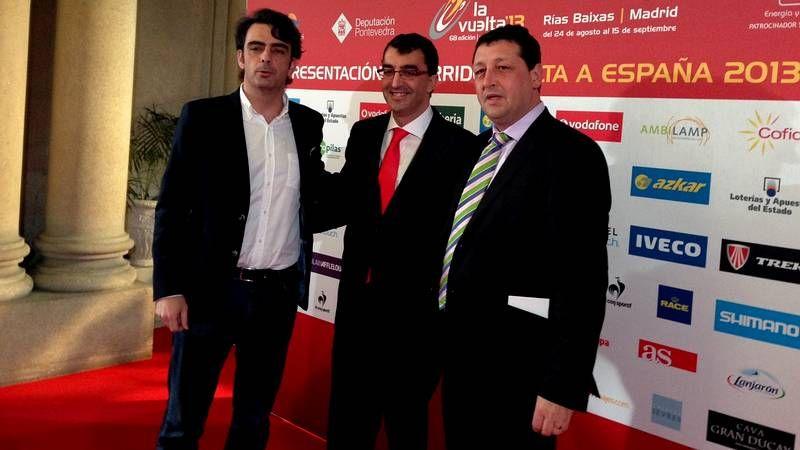 Diego Calvo, Javier Guillén y José Manuel Traba