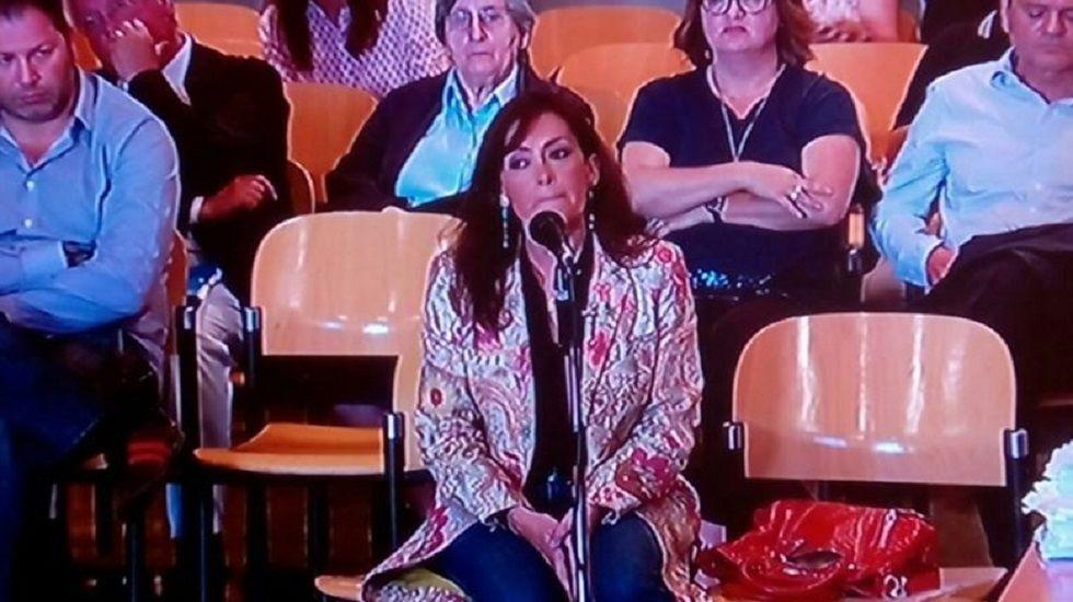 Soledad Saavedra, esposa de Vicente Álvarez Areces, declarando