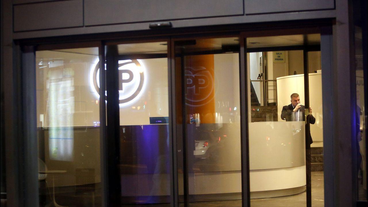 Sede del PP en la calle Génova de Madrid.El extesorero del PP, Luis Bárcenas