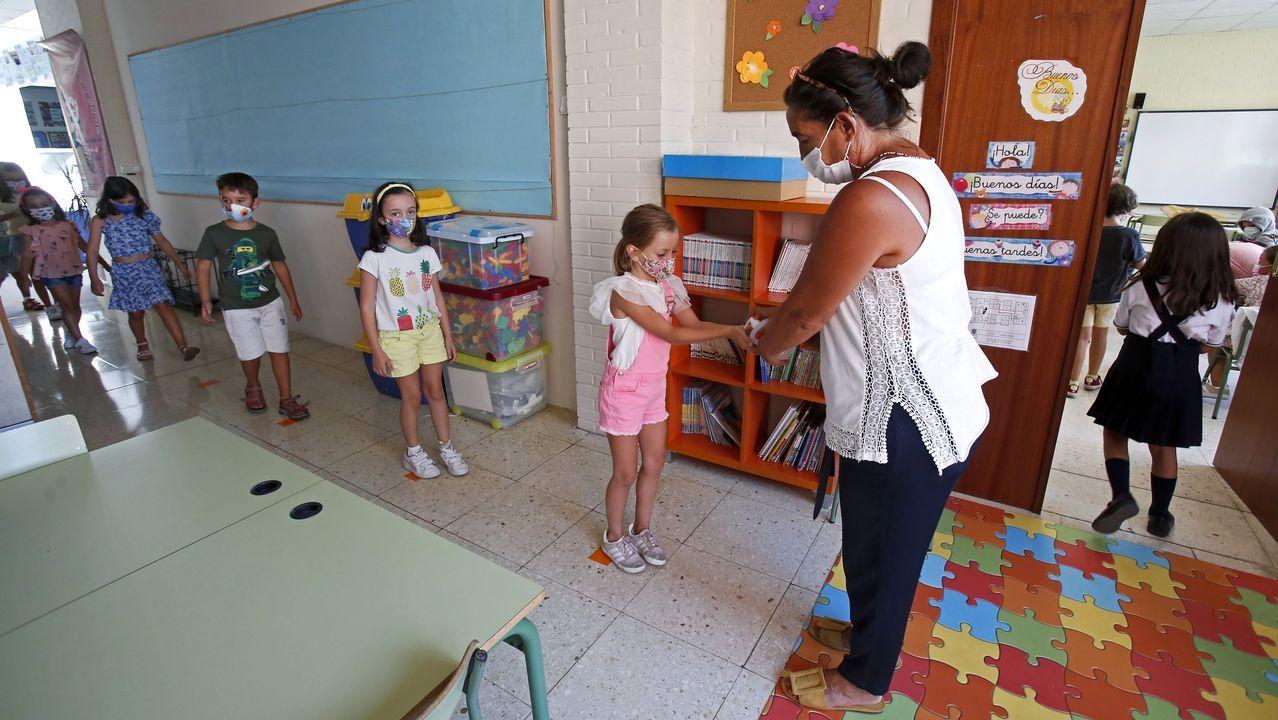 Imagen del inicio de este curso escolar en el CEP Campolongo, de Pontevedra