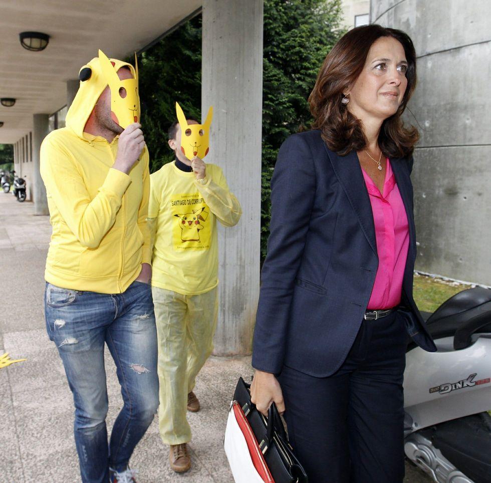 La exportavoz del gobierno, María Pardo, entrando en los juzgados el 19 de mayo del 2014.