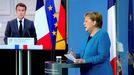 Macron y Merkel, durante su comparecencia tras el consejo de ministros bilateral
