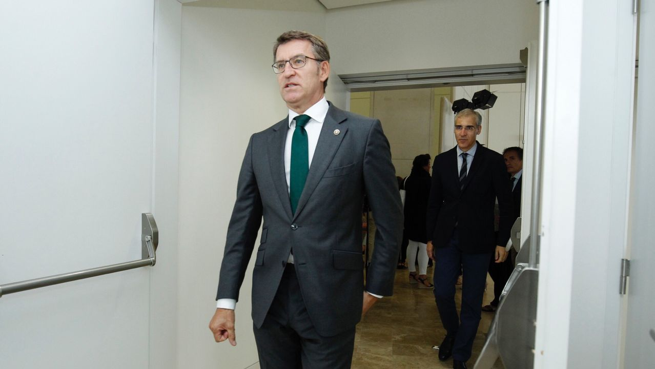 Feijoo: «El viernes sabremos a quién votan los compromisarios gallegos»