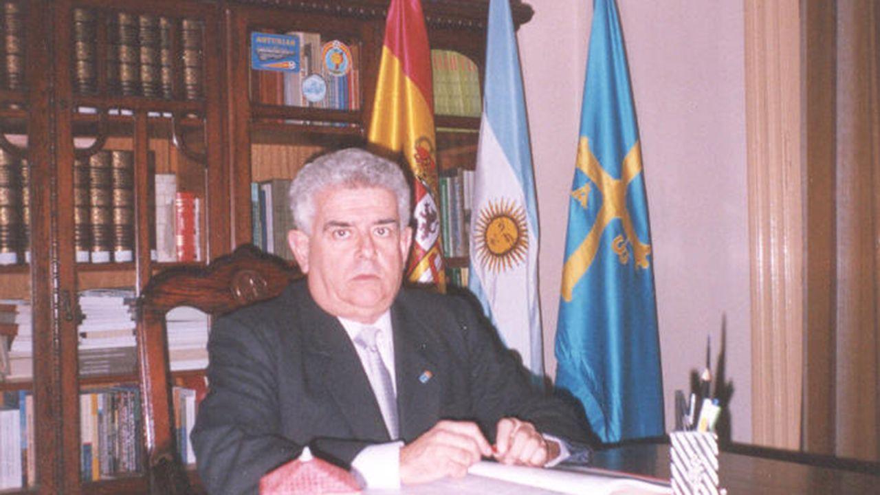 Horacio Antonio Castaño Fernández, argentino de antepasados asturianos y presidente del Centro Asturiano de Rosario