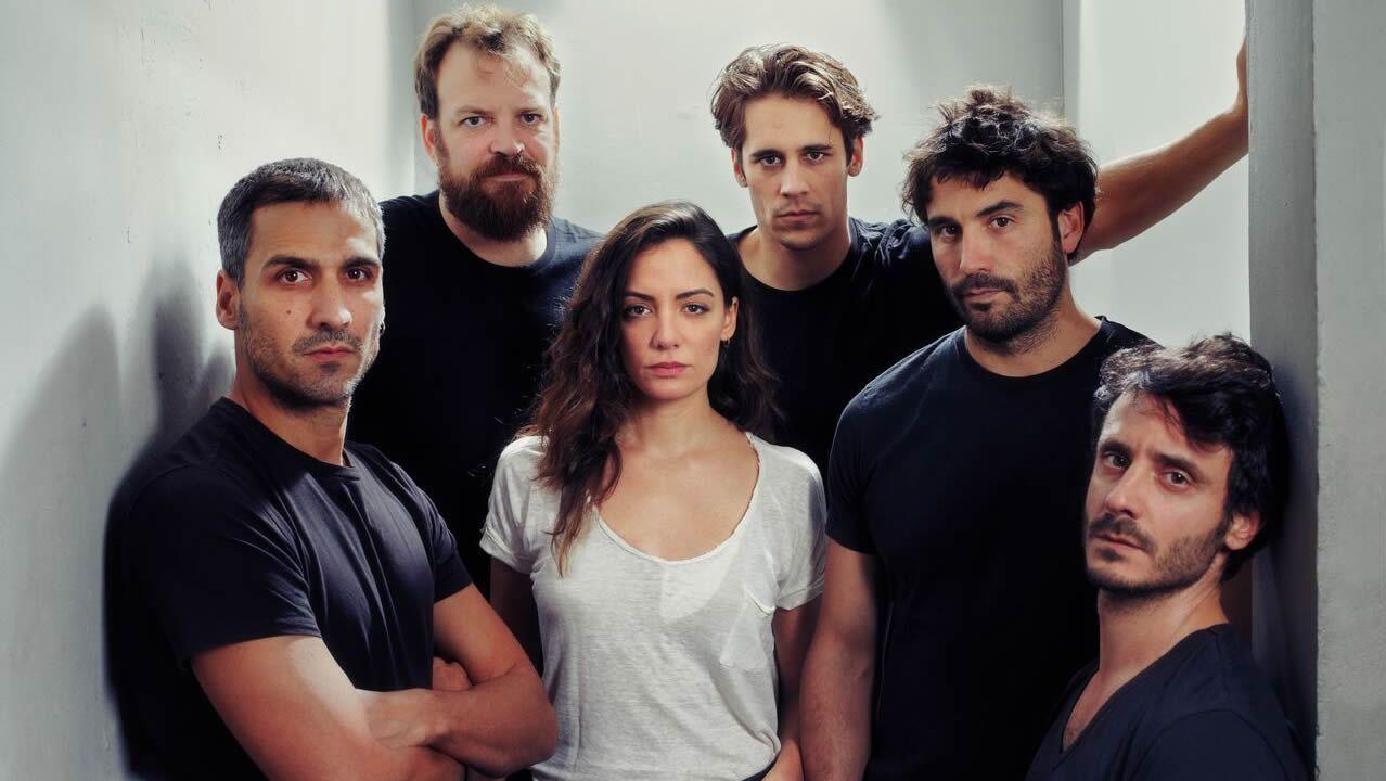 Los actores de la obra Jauría, una ficción sobre el juicio realizado a la Manada
