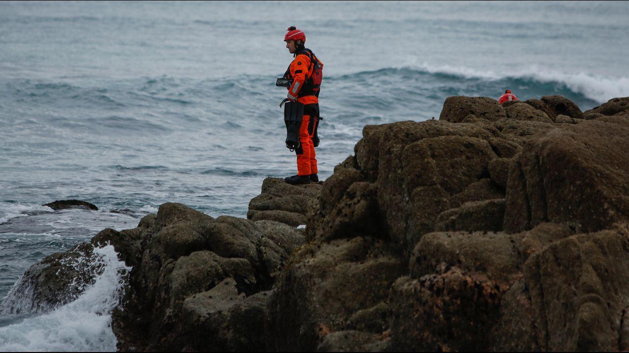 Imágenes del tercer día de búsqueda en la bahía de A Coruña