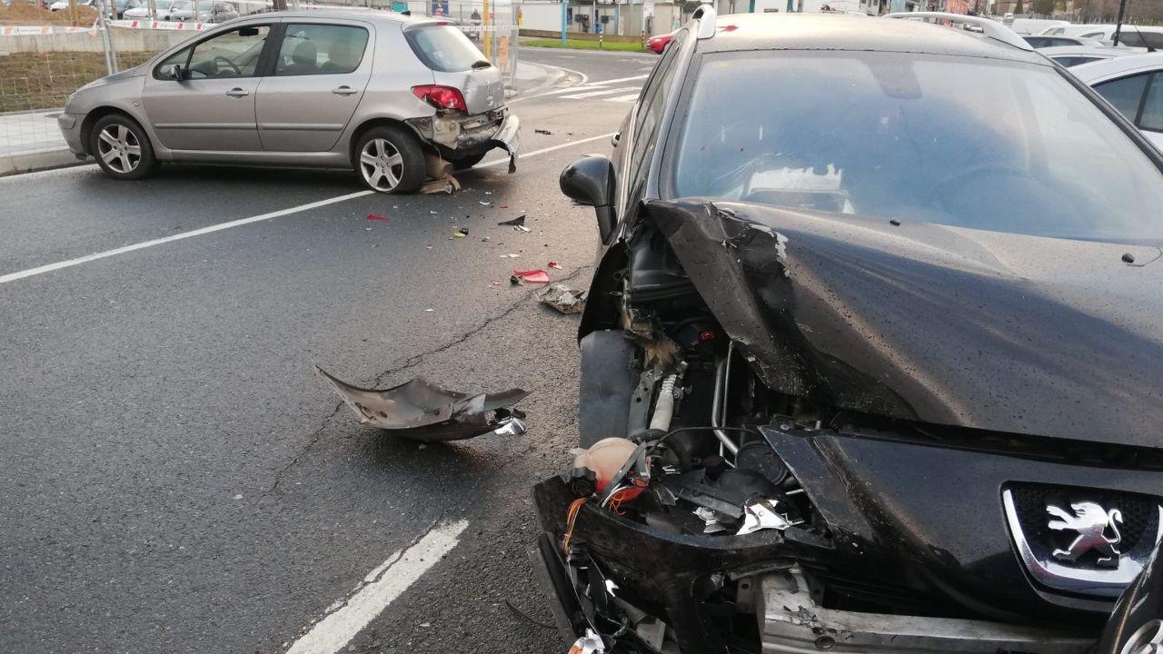Accidente en Grela.Policia Local de A Coruña.