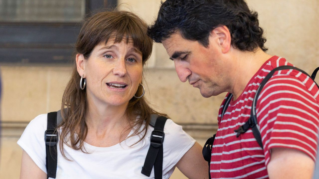 Irati Urrutikoetxea, hija de Josu Ternera, ayer en el Tribunal de Apelaciones de París