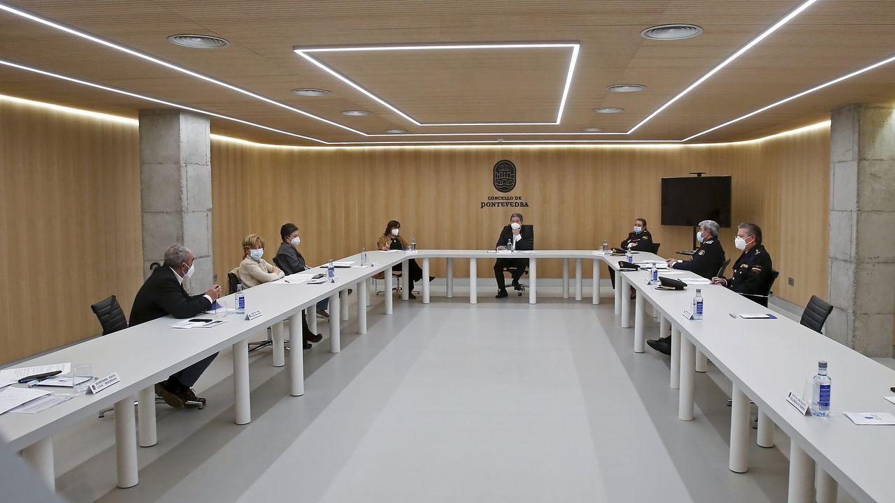 Junta local de seguridad en el Concello de Pontevedra