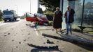 Choque frontal de un camión y un coche en Suevos, A Coruña