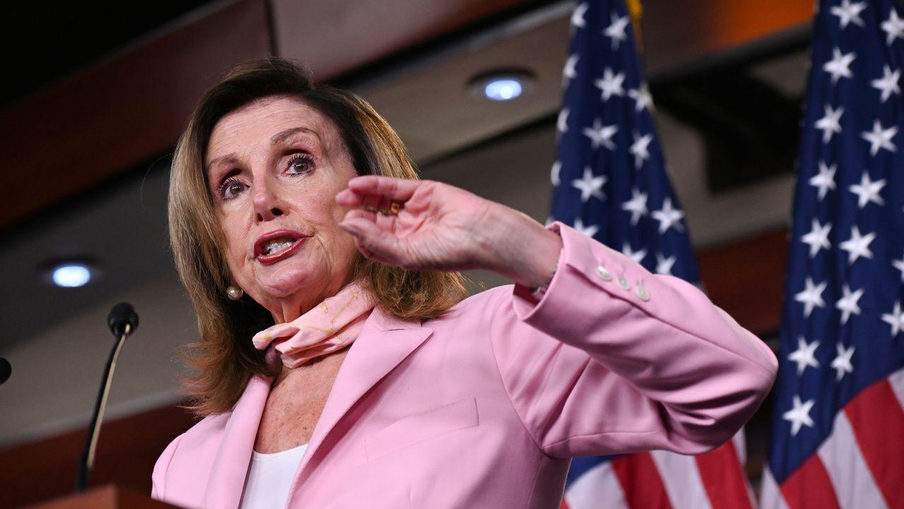 La líder del Congreso, la demócrata Nancy Pelosi