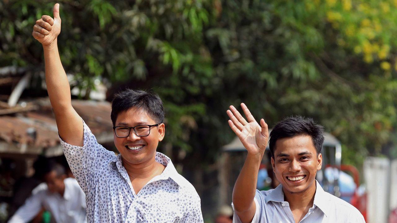 Periodistas liberados en Birmania