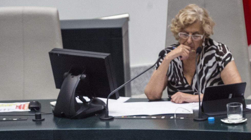 Manuela Carmena en la Senda del Oso.Manuela Carmena en la Senda del Oso