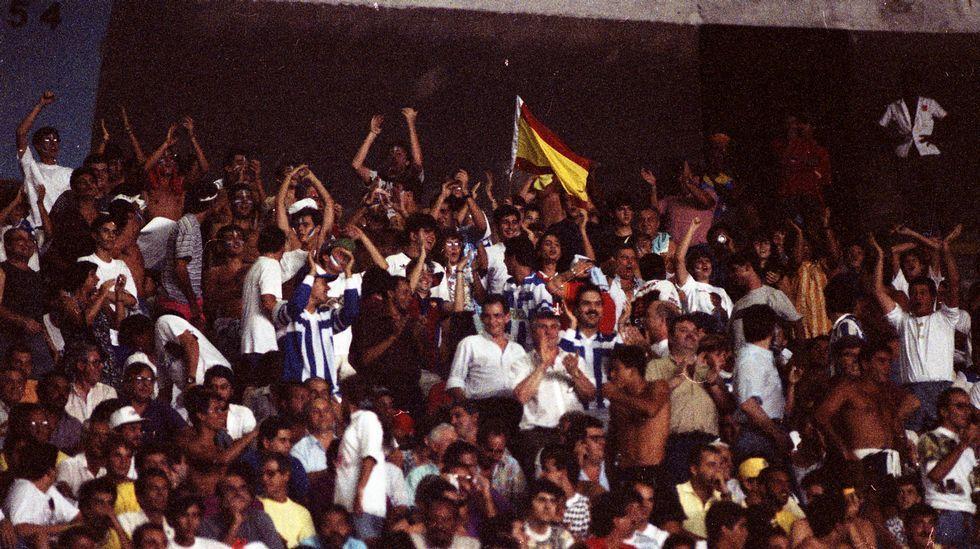 Aficionados del Dépor en Maracaná.