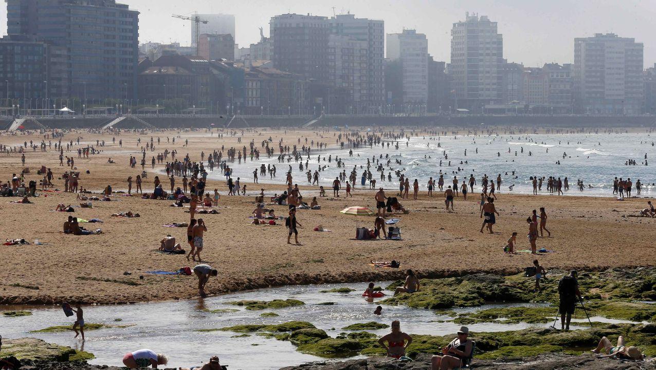 Vista de la playa de San Lorenzo