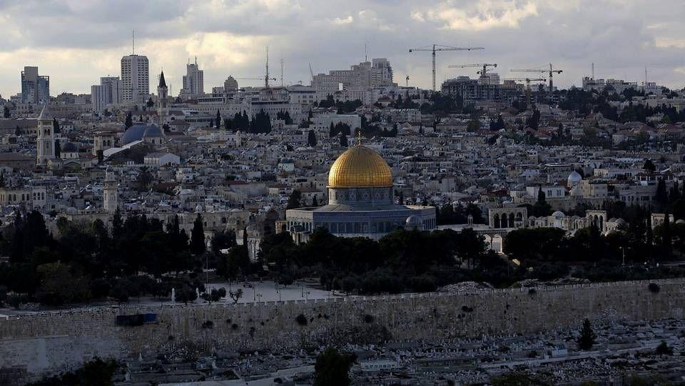 Vista de la Cúpula de la Roca en la esplanada de las mezquitas.